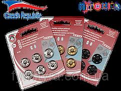 Кнопки KOH-I-NOOR набор Чехия №6 16мм антик, никель, черные
