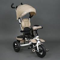 Трехколёсный детский велосипед Best Trike 6699 бежевый, надувные колеса