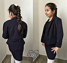 """Подростковый школьный пиджак для девочки """"Jaklin"""" с бантиком на спине (3 цвета), фото 3"""