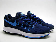 Мужские кроссовки Nike Air Zoom Pegasus 33 Knit Men All Navy. сайт интернет магазин, найк пегас синий