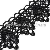 (20 ярдов) Кружево макраме с кордом Код 3533, ширина 3,5см Цвет - черный, фото 1