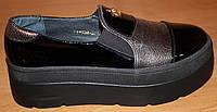 Туфли женские кожаные, кожаные слипоны женские от производителя модель ВБ1518
