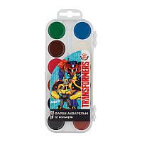 Краски акварельные Kite Transformers 12 цветов TF17-061