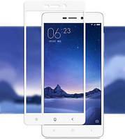 Закаленное защитное 3D стекло (на весь экран) для Xiaomi Mi Max (Белое)