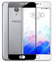 Закаленное защитное 3D стекло (на весь экран) для Meizu Pro 6 Plus (Черное)