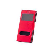Чехол (книжка) с окошком для Lenovo A1000 / A1000M (Phone) красный