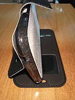 Чехол книжка Samsung J100 (J1) черная с окном