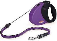 Flexi COMFORT LONG 1 SMALL Поводок-рулетка для мелких собак, 5м (трос), до 12 кг, сиреневый