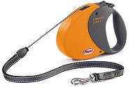 Flexi COMFORT LONG 2 MEDIUM Поводок-рулетка для средних собак, 8м (трос), до 20 кг, желтый