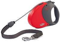 Flexi COMFORT LONG 3 LARGE Поводок-рулетка для средних и крупных собак, 8м (трос), до 50 кг, красный