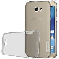 TPU чехол Nillkin Nature для Samsung A720 Galaxy A7 (2017) (Серый)