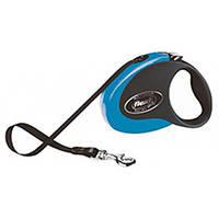 Flexi COLLECTION Поводок-рулетка для средних собак, 5м (лента), до 25 кг, синий