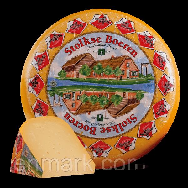 """Сыр без лактозы и глютена Stolkse Boeren «Hollands» MATURO """"зрелый"""""""