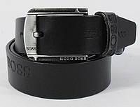 Кожаный ремень под джинсы Hugo Boss 8008-405 черный 40 мм, итальянская кожа