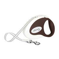 Flexi COLLECTION Поводок-рулетка для мелких собак, 3м (лента), до 12 кг, кофейный
