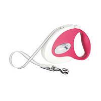 Flexi COLLECTION Поводок-рулетка для средних собак, 5м (лента), до 25 кг, красный