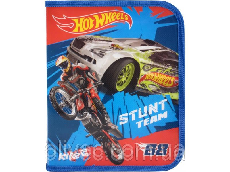 "Папка для тетрадей на молнии Kite ""Hot wheels"" B5"