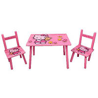 Детский столик Hello Kitty со стульчиками (Арт. M 0293)