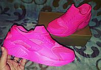 Кроссовки розовые копия бренда nike huarache в наличии