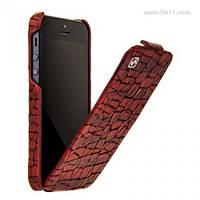 Чехол HOCO Knight Flip Leather case Hi-L019 для iPhone 5/5s и iPhone SE dark red