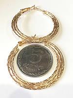 Серьги кольца плоские