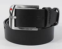 Кожаный ремень джинсовый Dsquared 8008-406 черный 40 мм, итальянская кожа