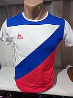 Мужская молодежная  футболка х/б в полоску