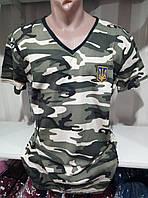 Мужская молодежная  футболка х/б с вышивкой