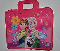 Сумка-портфель детская А4, пластиковая / Frozen