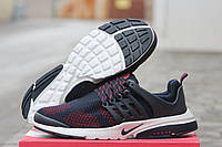 Кроссовки Nike Air Presto мужские темно синие с красным