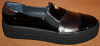 Туфли женские кожаные, кожаные слипоны женские от производителя модель ВБ1518-1