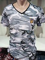 Мужская молодежная  футболка х/б с вышивкой Украина