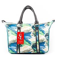Стильная летняя женская сумочка в бирюзово-радужной комбинации  art. 1358bp