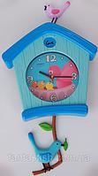 Настенные часы (27х27) XW7203 BIRD HOUSE-clock