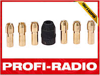 Набор цанг 1,0-3,2 мм и цангодержатель патрон для гравера
