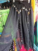 Женская черная шифоновая юбка для восточных танцев