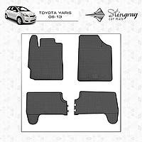 Коврики резиновые в салон Toyota Yaris с 2006 (4шт) Stingray