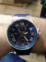 Мужские часы Ulysse nardin  силиконовый ремешок (Арт. 9707)