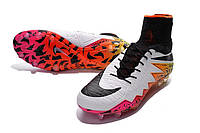 Футбольные бутсы Nike Hypervenom Phantom II FG White/Black/Total Orange/Volt, фото 1