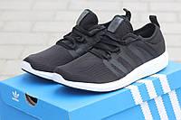 Летние мужские кроссовки ADIDAS BOUNCE черно-белые