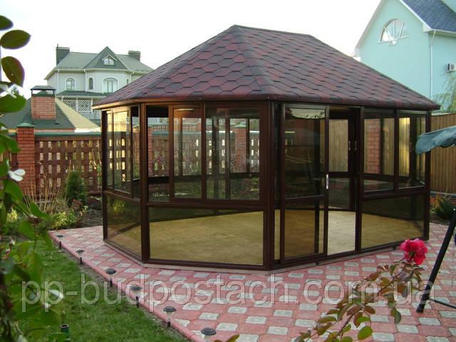 Підлога для альтанки з штучним газоном