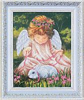Набор для вышивания бисером Ангел с кроликом