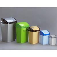 Ведро для мусора Горизонт Домик 1,7 л GR-02034 Голубой