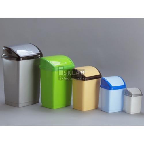 Ведро для мусора Горизонт Домик 5 л GR-02035 Металлик