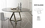 Круглий розкладний обідній скляний стіл MILLENNIUM 125/175 см фабрики BONTEMPІ (Італія), фото 3