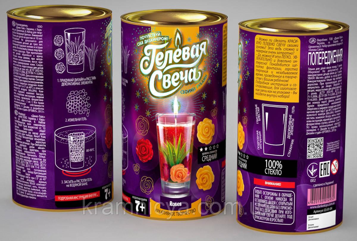 Гелевая свеча 'Розы' (GS-01-04)