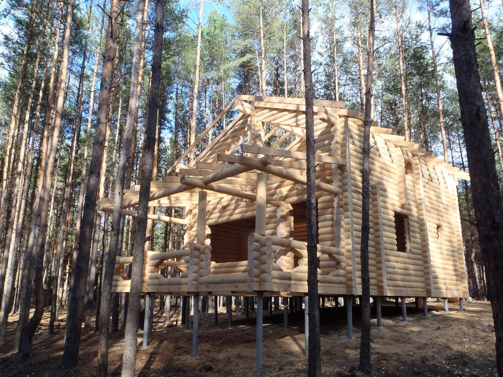 Дом на свайном фундаменте Сосновая Бухта