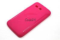 Чехол накладка для Huawei Y511 розовый, фото 1