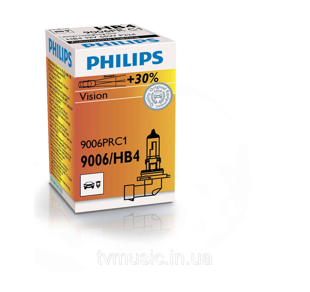 Галогенная лампа Philips Vision HB4 (9006) 12V 55W (9006PRC1)