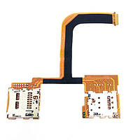 Конектор Sim и карты памяти для HTC One mini 2,  на шлейфе,  на две SIM-карты